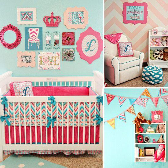 aqua, pink, turquoise, paleta, chevron | crafts | Pinterest ...