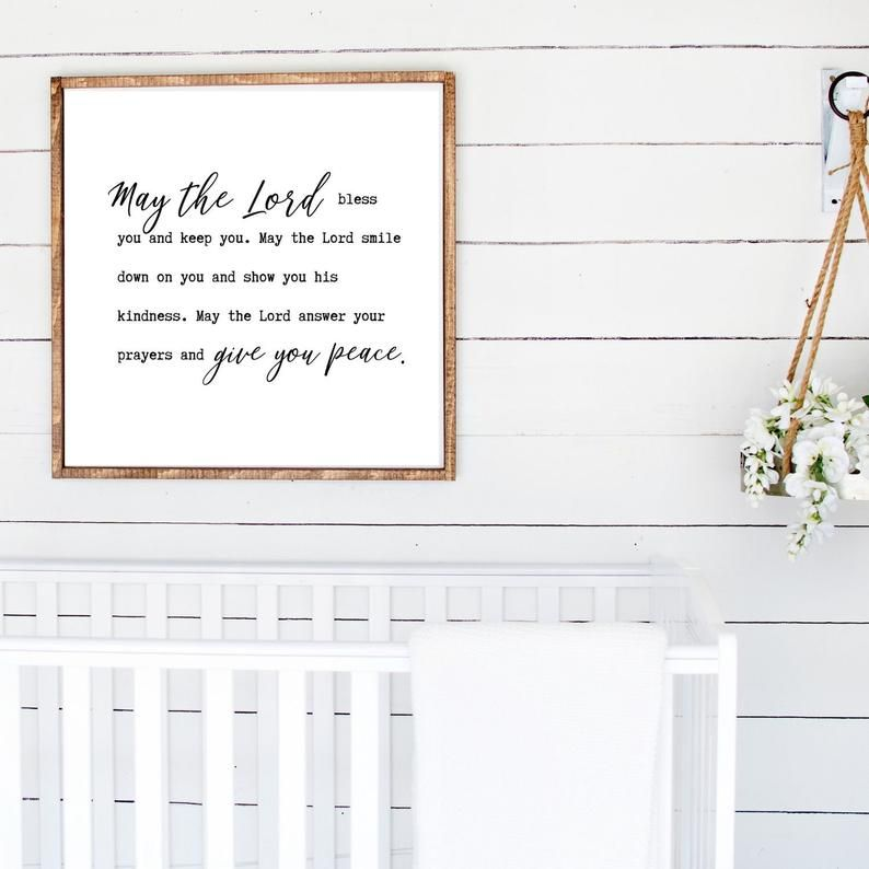 May The Lord Bless You And Keep You Print Bible Verse Etsy Affordable Wall Art Baby Wall Art Modern Scripture Art