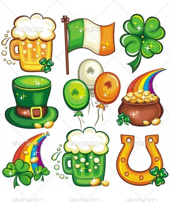 St Patrick S Day Icon Set Series Saint Patricks Day Art St Patrick Day Activities St Patrick S Day Decorations