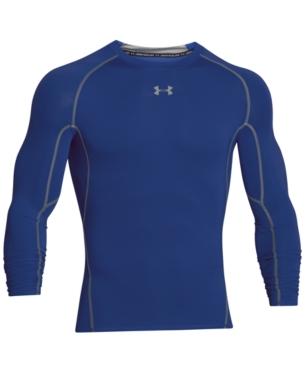 c44fbb139b Under Armour Men's HeatGear Long-Sleeve Compression Shirt - Blue XLT ...