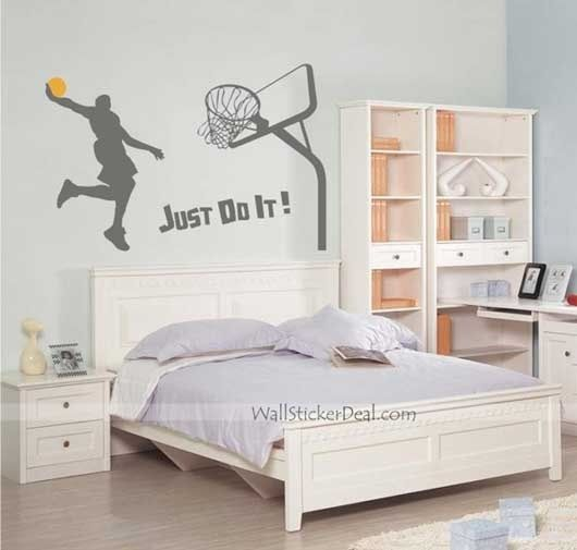 Boys Bedroom. inspiration for boys Sports wall decals