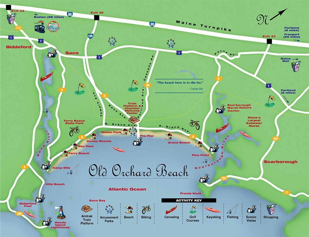 Get Directions To Old Orchard Beach Maine And Take