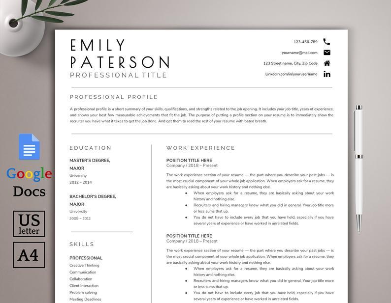 Google Doc Template Freebies!!! Best resume format
