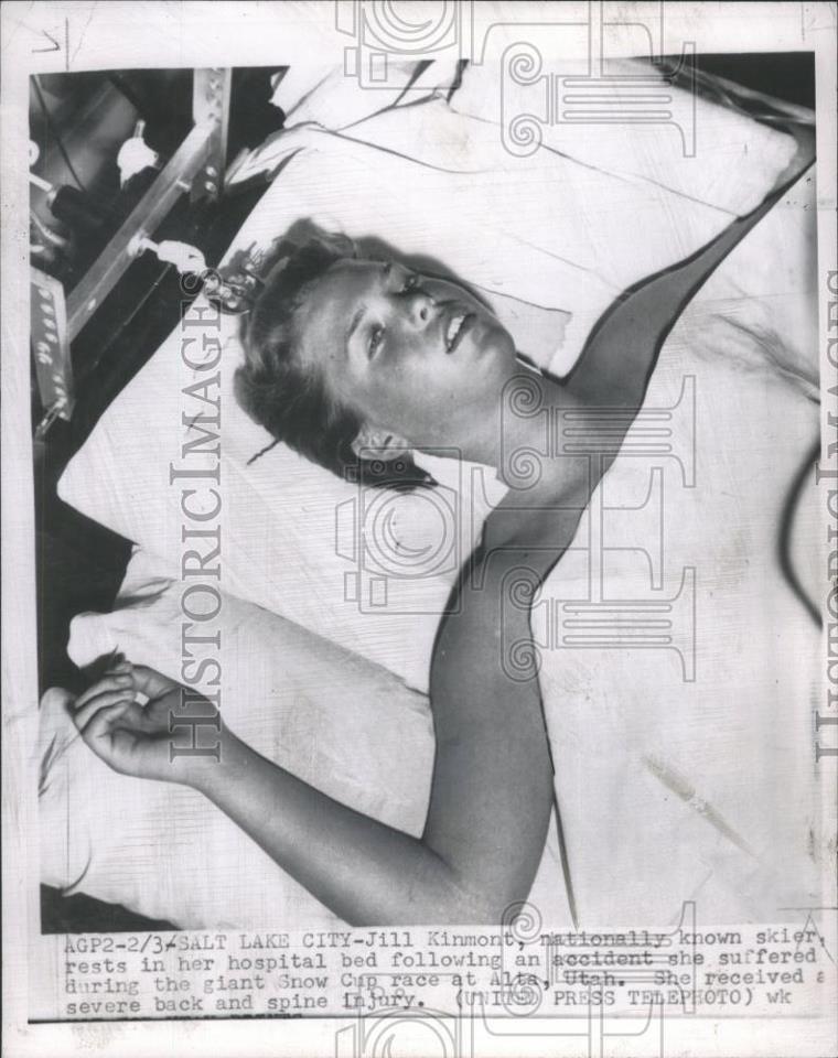 Jill in Salt Lake City Hospital a few days after the crash, February 3rd, 1955