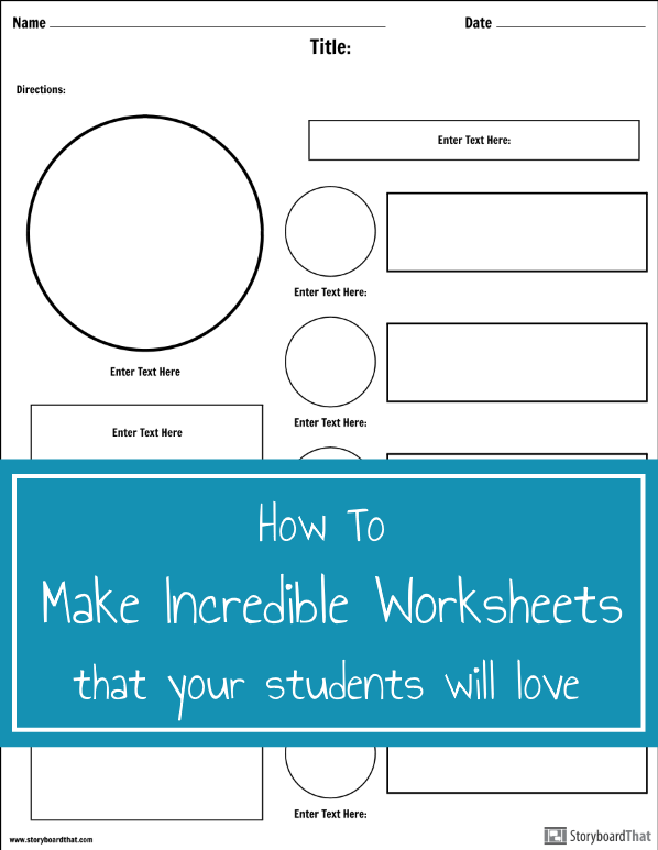 Learn how to make worksheets to use digitally or to print ...