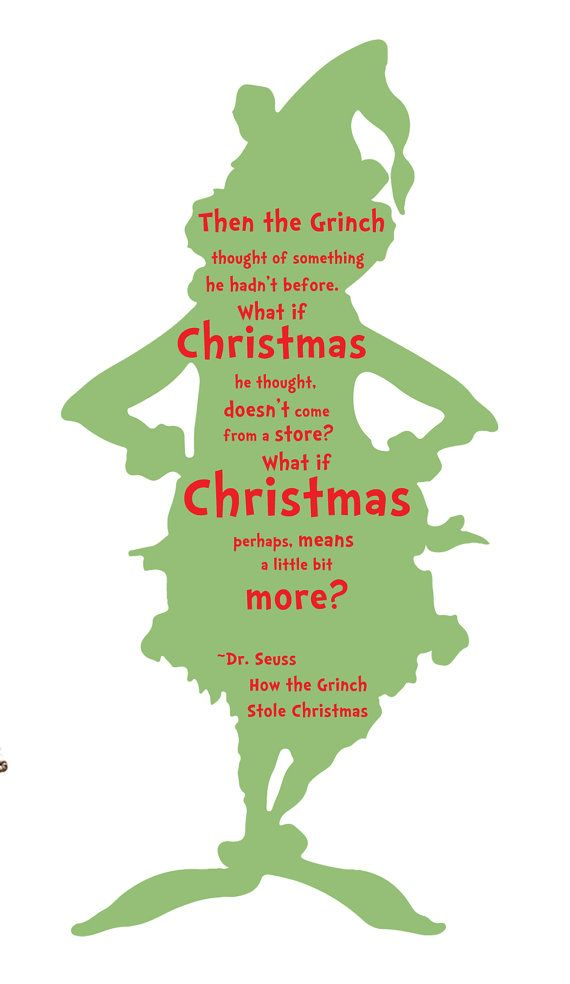 The Grinch Quote Vinyl Wall Art Decal By Tannerscreekdesigns Grinch Quotes Grinch Christmas Quotes