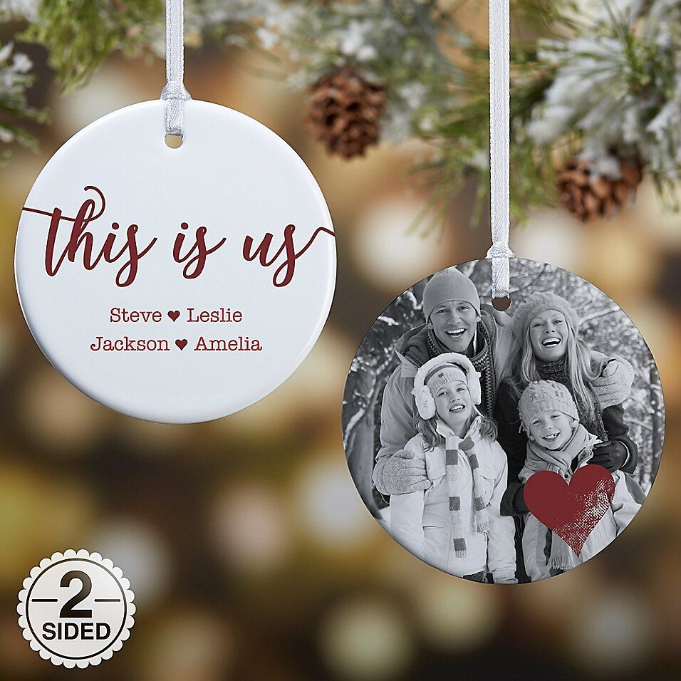 2 Sided Glossy This Is Us Personalized Ornament Small Buybuy Baby Christmas Ornaments Family Christmas Ornaments Personalized Christmas Ornaments