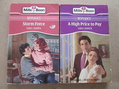 2 X Sara Craven Traditional Rose Romance Mills Boon Books 1 A