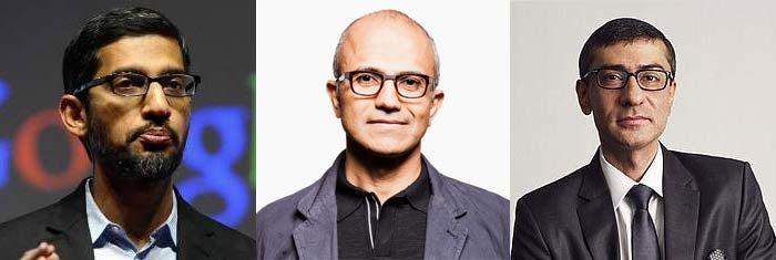 Los nuevos gerentes de Google, Microsoft y Nokia son de la India