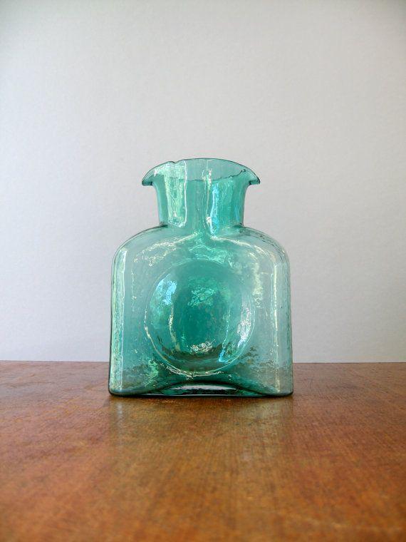 Vintage Blenko Glass Bottle Pitcher Vase 384 Pinterest Glass