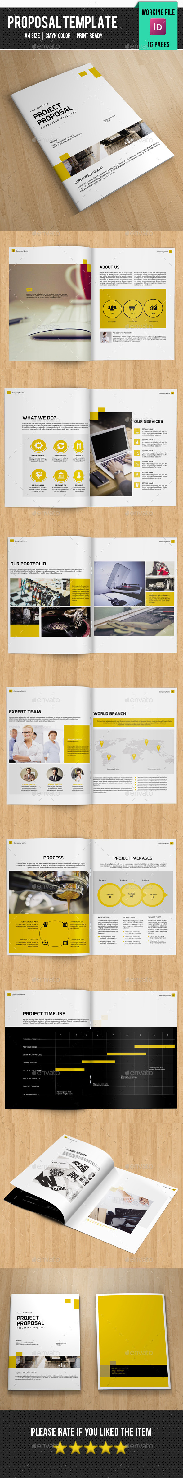 Business Project Proposal Template  Business Brochure On Behance