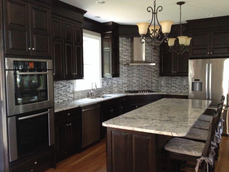 image result for white ice granite backsplash kitchen remodel pinterest kitchen. Black Bedroom Furniture Sets. Home Design Ideas