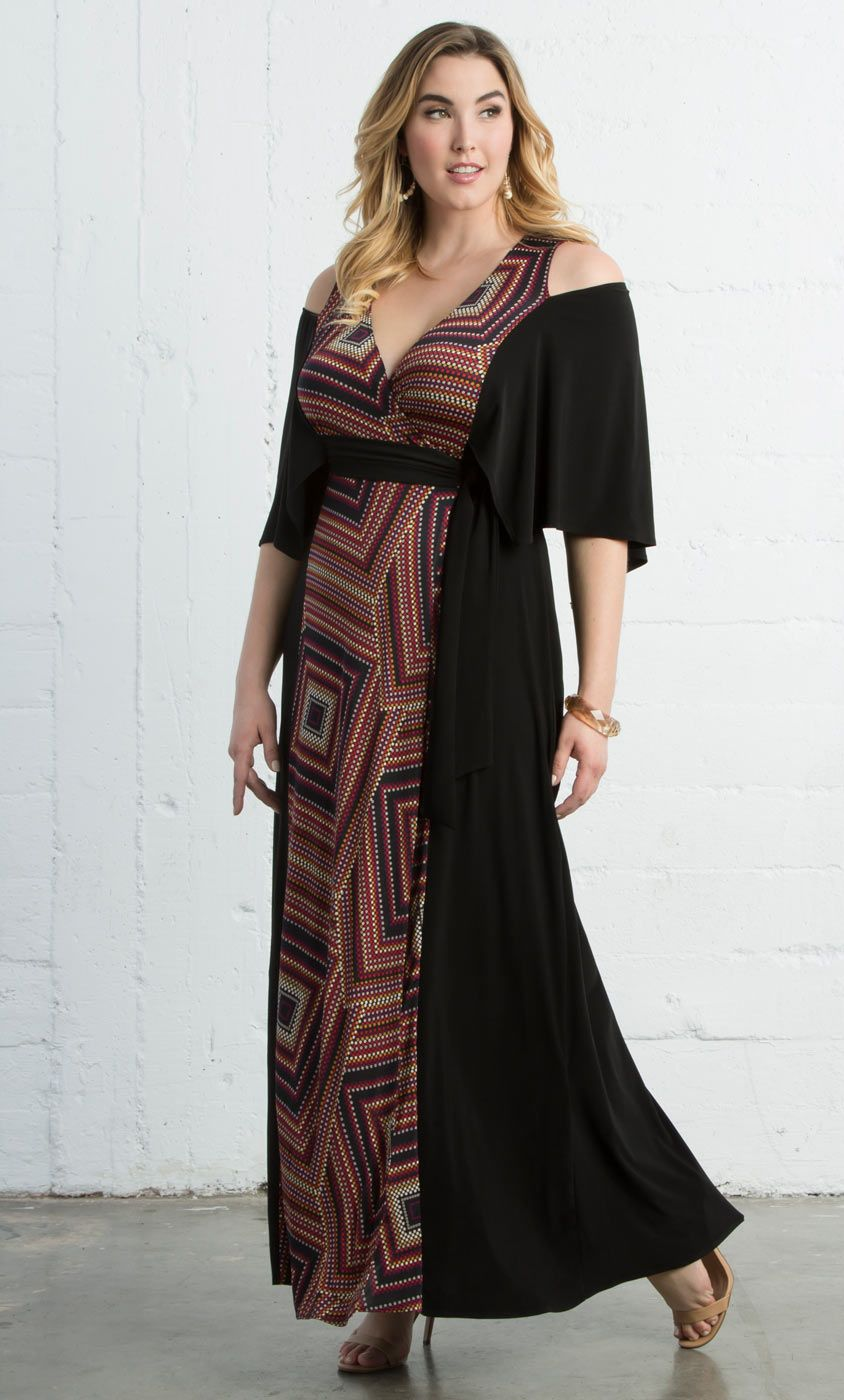 Check Out The Deal On Serene Maxi Dress Sale At Kiyonna Clothing