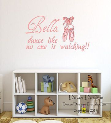 Girls dancing quote wall decal decor designs decals