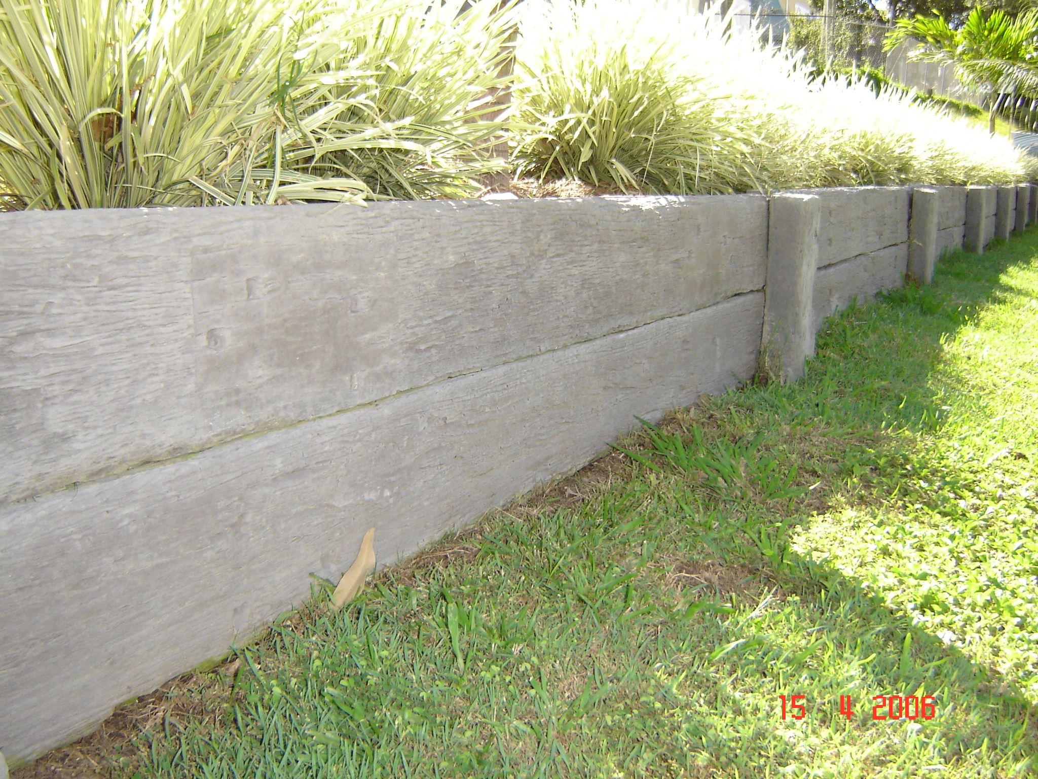 Concrete Sleepers Retaining Walls Yard Backyard Retaining Walls Garden Retaining Wall Concrete Sleepers