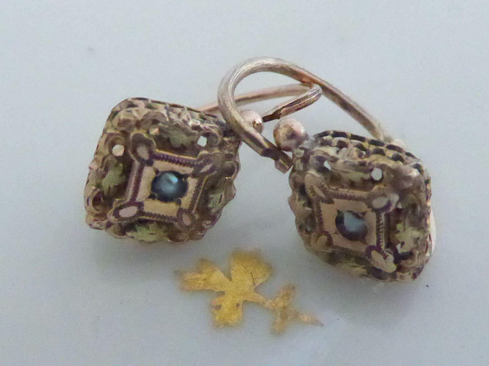 Royaume-Uni disponibilité 1dfcd 9519e Détails sur Jolies petites anciennes boucles d'oreilles ...