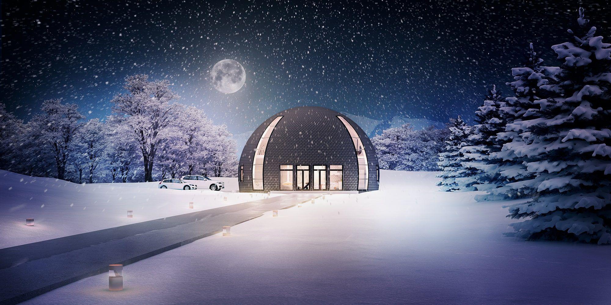 Купольный дом   Строительство купольных домов под ключ ...