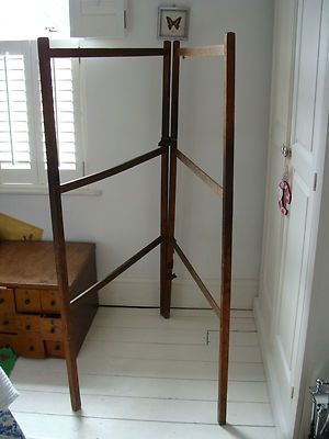 2 X Victorian Vintage Country Style Wooden Maiden Clothes Horse