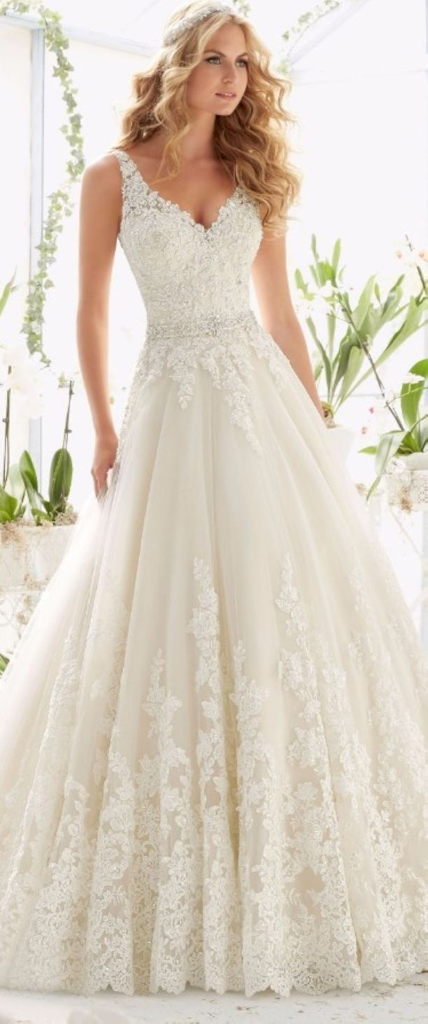 Gorgeous vow renewal dress country wedding ideas 26 | Country ...