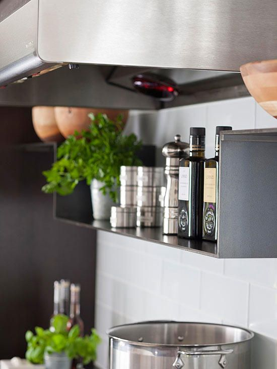 Colorful Kitchen Supplies: Transitional Gray Kitchen Makeover