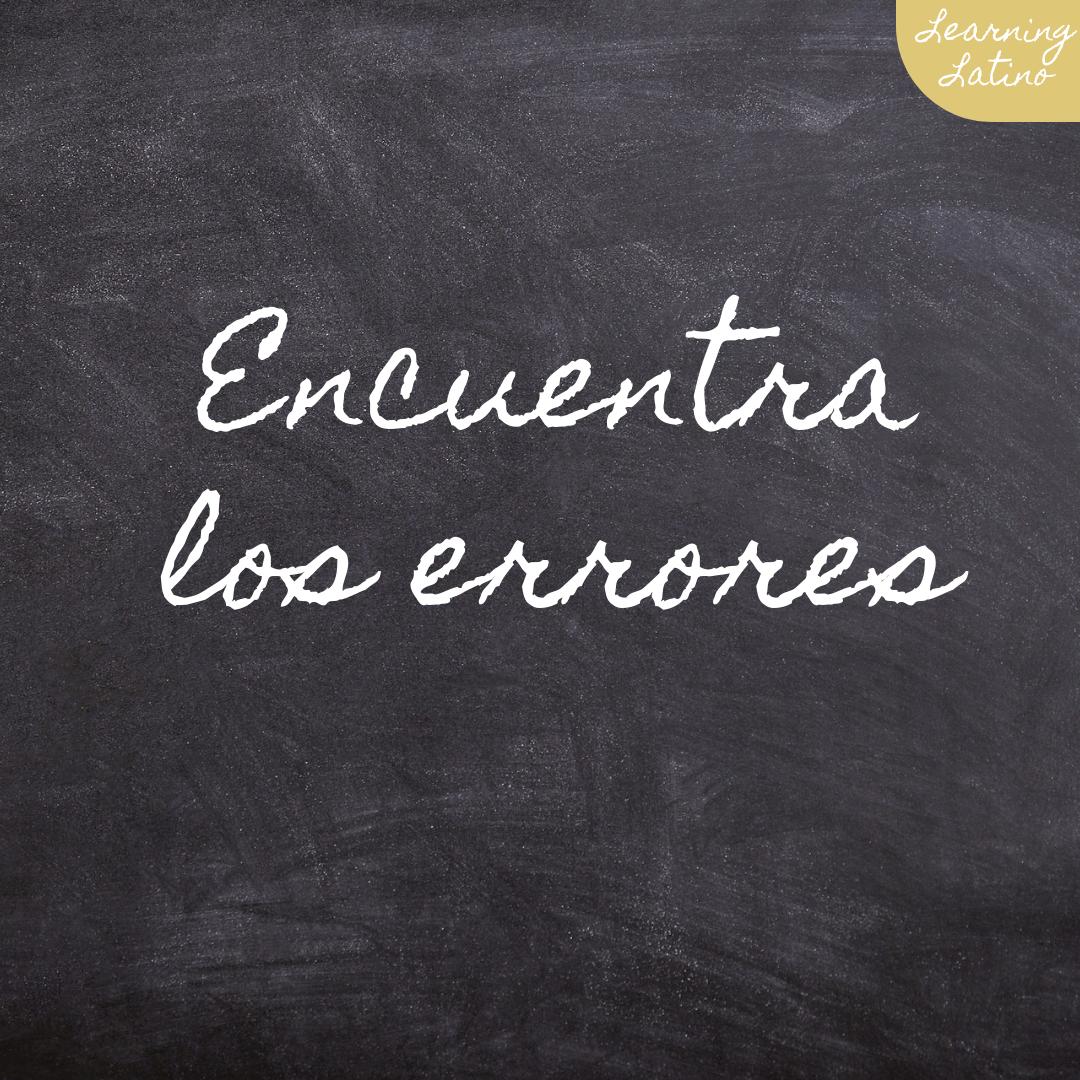 Pin auf grammar common mistakes in Spanish