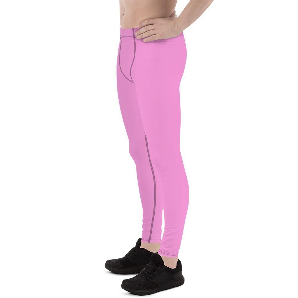 80b690036f634 Yoko Pink Ballet Men's Running Leggings & Run Tights Meggings Activewe –  heidikimurart