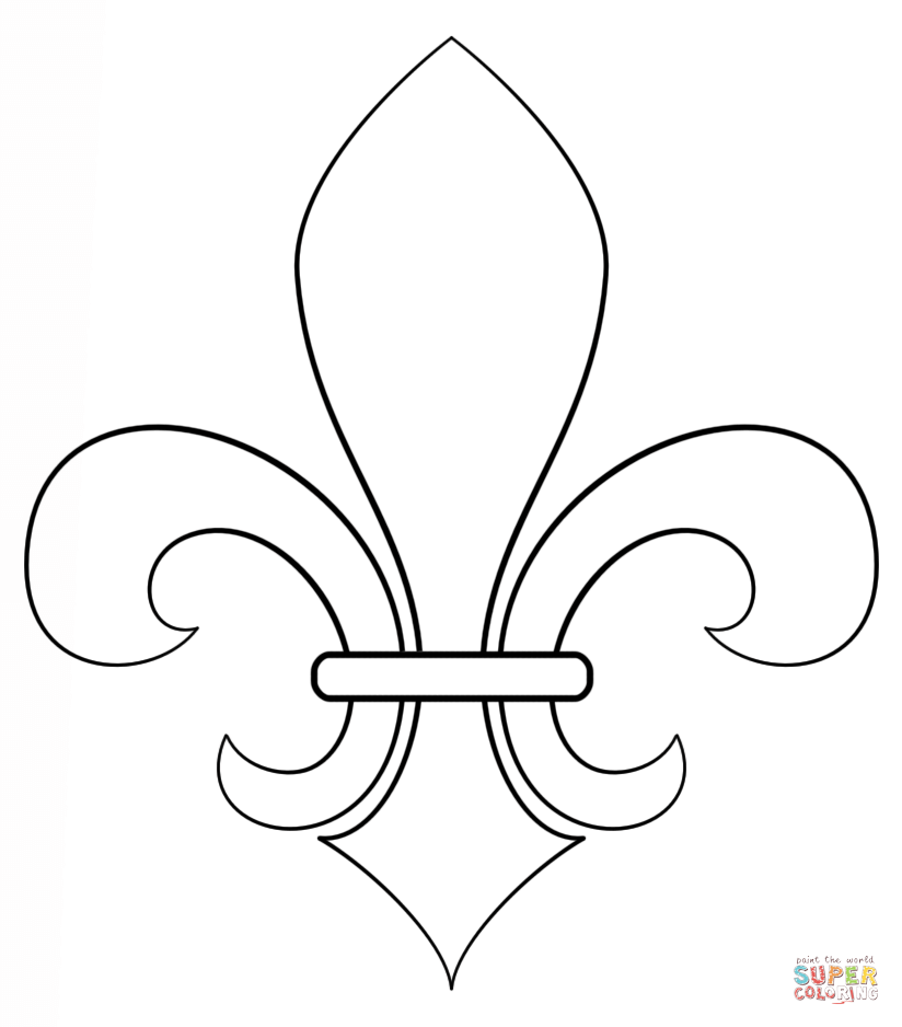 Fleur De Lis Coloring Page Free Printable Coloring Pages Drawing Tutorials For Kids Mardi Gras Crafts Drawing Tutorial