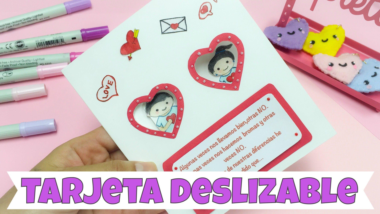 Tarjeta Deslizable Dia Del Amor Y La Amistad14 De Febrero