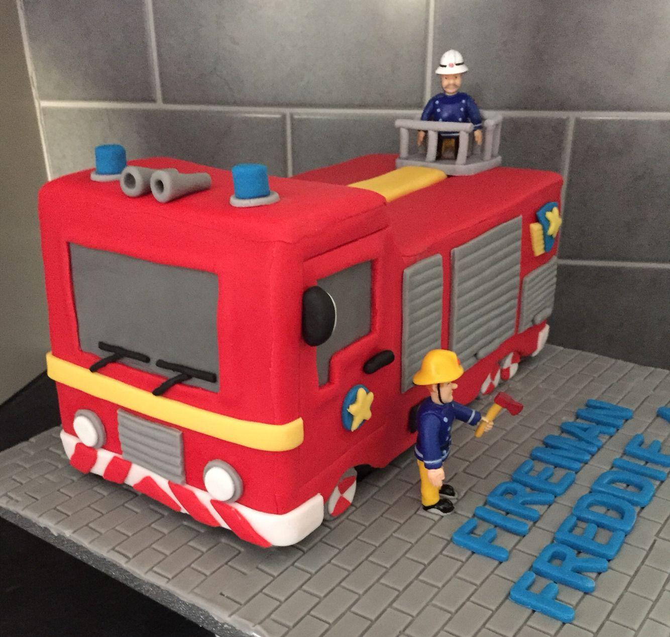 Fireman Sam Jupiter Fire Engine Cake Kuchen Pinterest Fire
