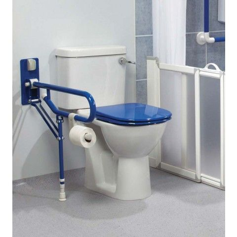 Best Akw Fold Up Double Support Rail With Leg 32Mm Blue 400 x 300