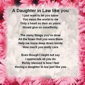 Printable Daughter in Law Poems - Bing Images | sayings
