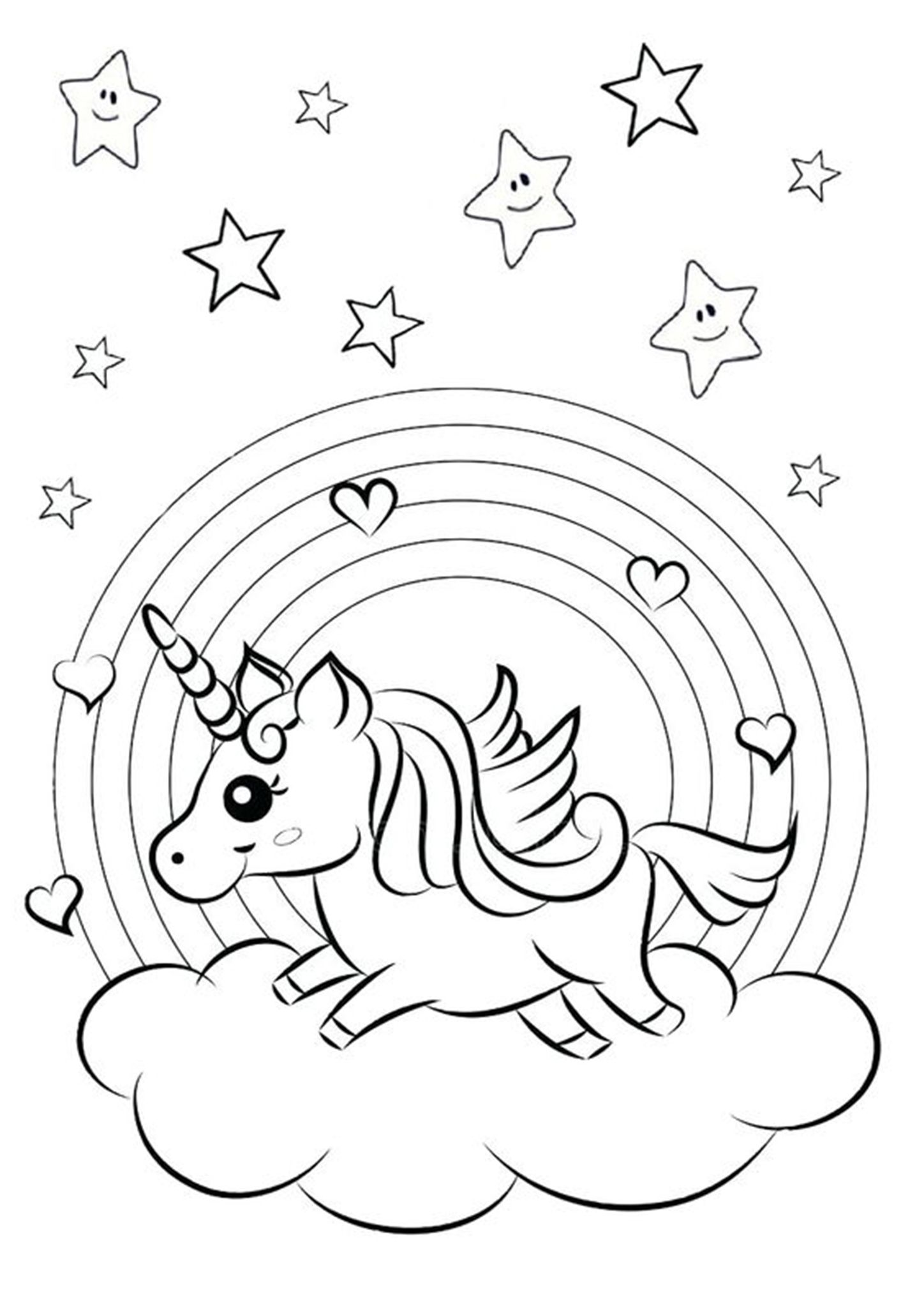 27+ Cute coloring pages unicorn rainbow ideas
