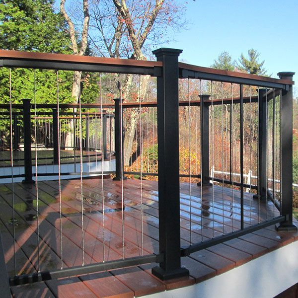 Exterior Balcony Could Do A Vertical Cable Railing Perhaps With Bronze Posts To Match The