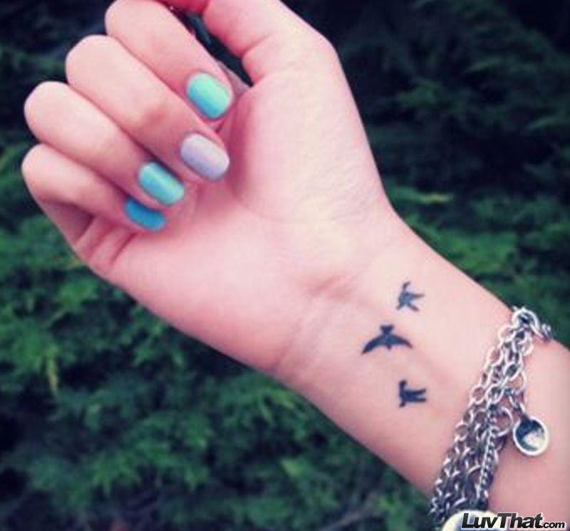 Three Birds Wrist Tattoo Jpg 800 745 Bird Tattoo Wrist Tattoos 12 Tattoos