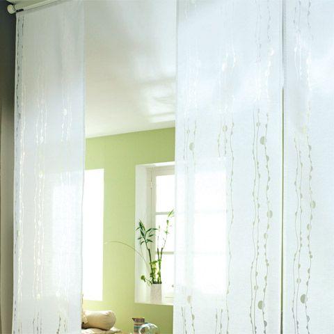 panneau japonais blanc devore vague 45 x 260 cm castorama