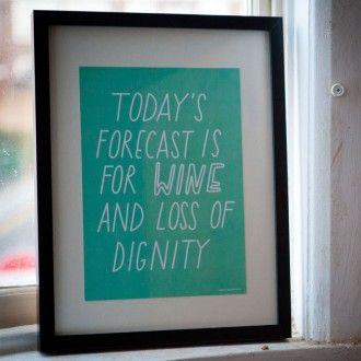 Today's forecast A4 Poster print joy of ex foundation - From Britain with Love