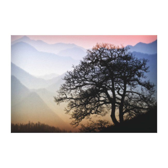 Smoky Mountain Sunset from the Blue Ridge Parkway Canvas Print | Zazzle.com