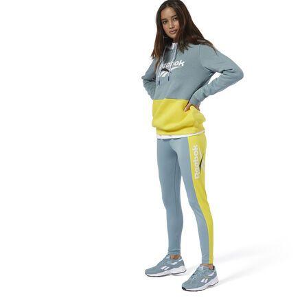 Reebok Women's Classics Vector Leggings in Teal Fog Size XS