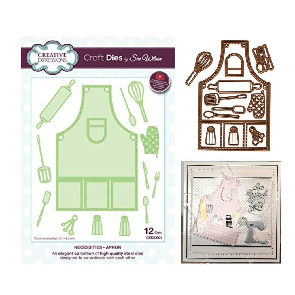 Apron Die Cut Set by Sue Wilson for Creative Expressions