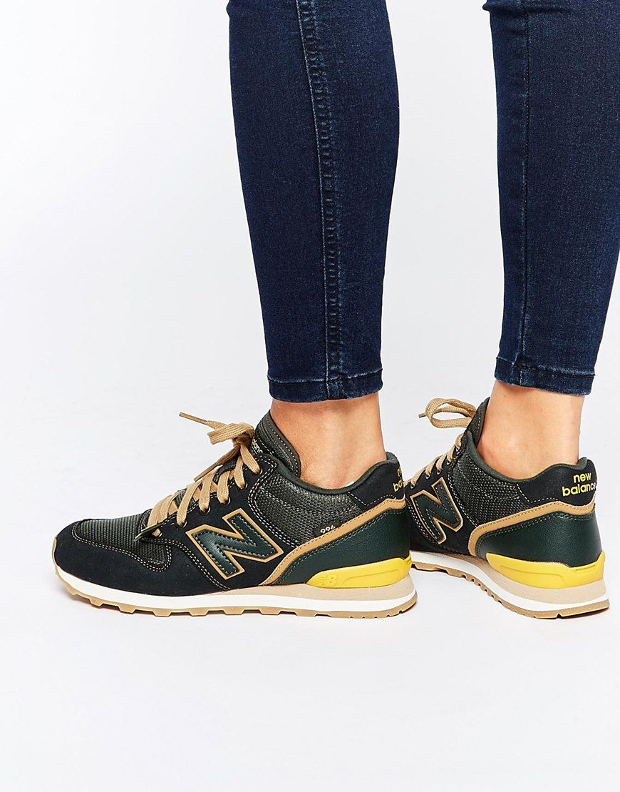 womens new balance blue & yellow 996 trainers