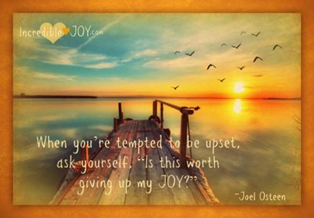 don't give up your joy ~ Joel Olsteen