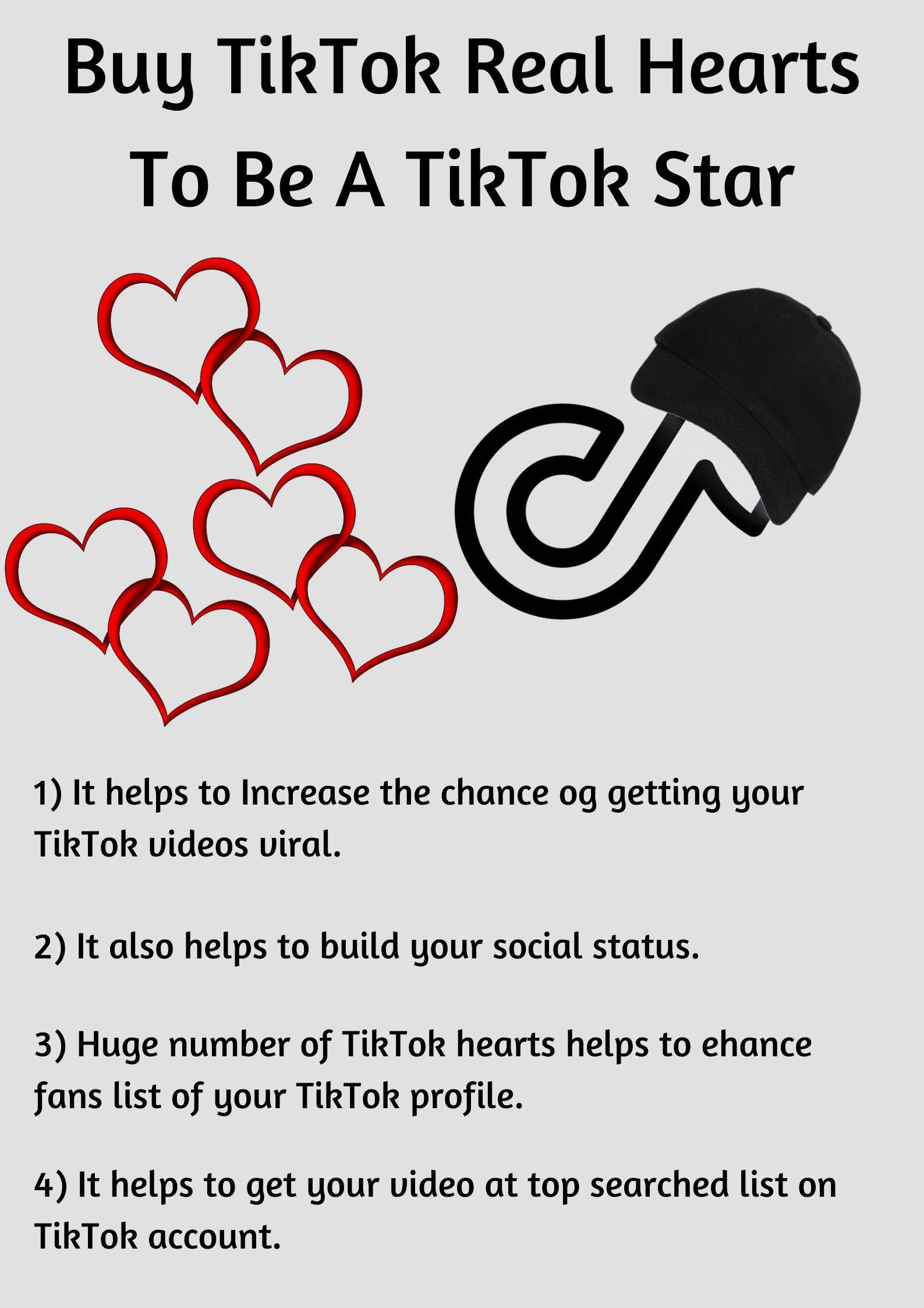 Buy Tiktok Real Hearts To Be A Tiktok Star Stuff To Buy Creative Abilities Real