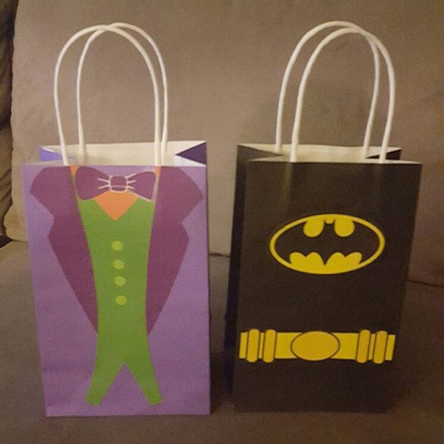 Batman And Joker Birthday Party Ideas Goodie Bags Favor