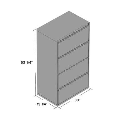 Inspirational Four Drawer Lateral File Cabinet