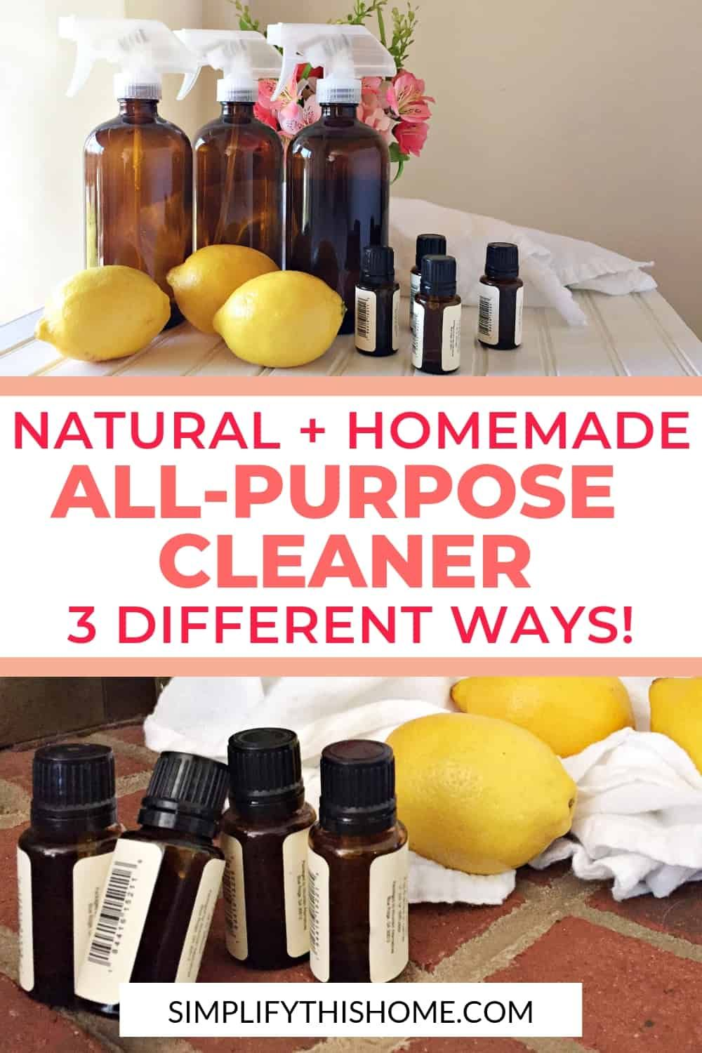 3 Natural Homemade AllPurpose Cleaner Recipes That