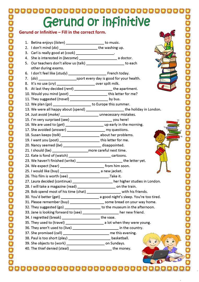 Gerund Or Infinitive Worksheet Free Esl Printable Worksheets Made By Teachers Teaching English Grammar English Language Teaching English Grammar Worksheets [ 1079 x 763 Pixel ]