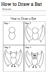halloween activities a nice easy printable good tie in for autumn activities or animal studies - Easy Halloween Drawings For Kids