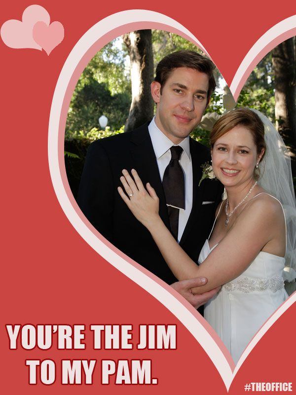 Jim And Pam Halpert Valentine S Day Theoffice The Office Valentines Holidays And Events Funny Shows