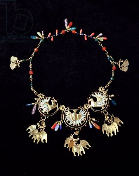 Mrs Mucha's Necklace, 1906 (gold, enamel and semi-precious stones)