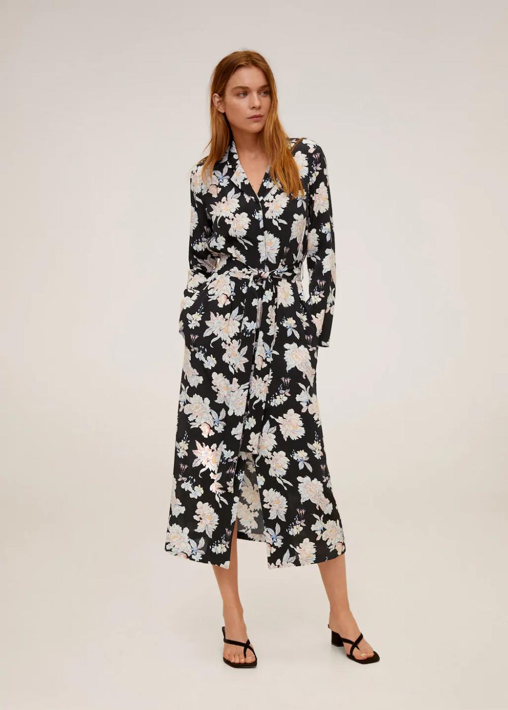 Koszulowa Wzorzysta Sukienka Kobieta Mango Polska Printed Shirt Dress Womens Dresses Dresses